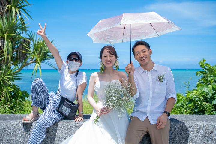 沖縄県恩納村のフォトウェディング(ビーチフォト)