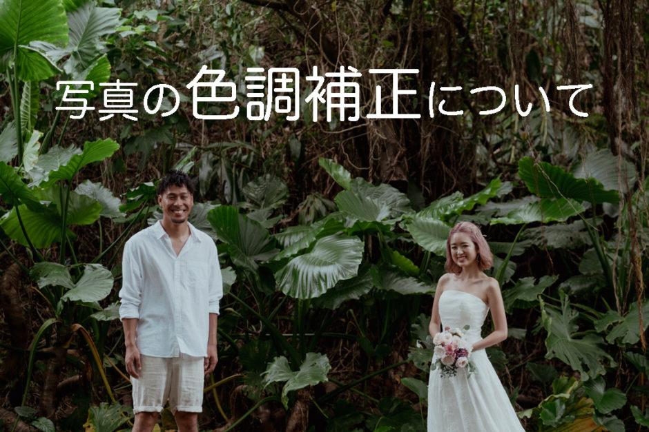 沖縄県宮古島でのフォトウェディング写真(緑イメージ)